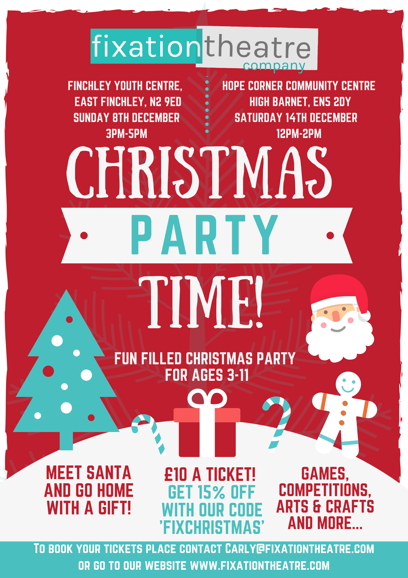 Fixation X-mas Party information