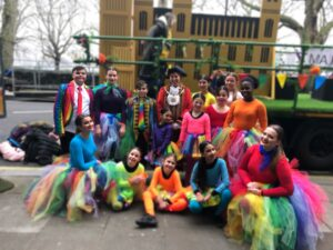 Fixation Theatre group with Mayor of Barnet